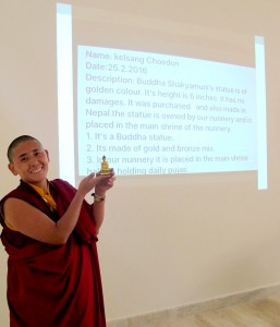 Nun workshop participant presents her digital documentation